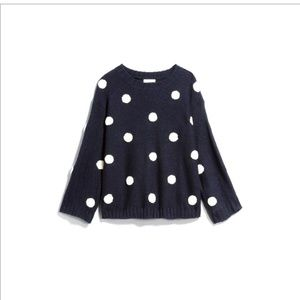 Sophie Rue S Blue & White Polka Dot Sweater